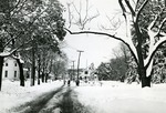 University Avenue in the Snow